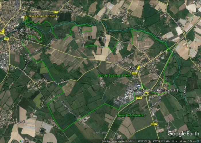 Parcours Boucle Sportive 15 kms